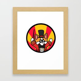 Carnival Party Gift Costumes Funny Framed Art Print