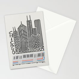 Chicago Cityscape Stationery Cards