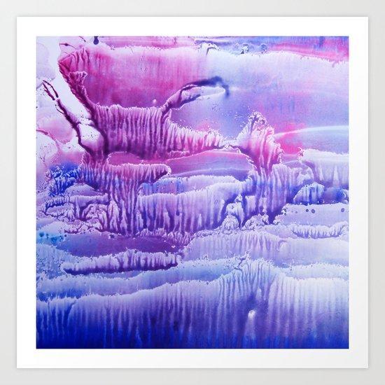 blue underwater world 2 Art Print