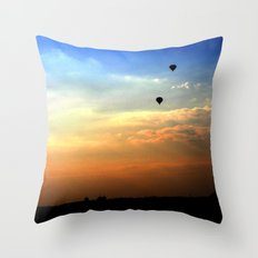 Out of the smog Throw Pillow
