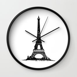 Eifffel Tower Paris Wall Clock