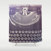 typewriter Shower Curtains featuring Typewriter by Jessica Torres Photography