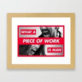 Piece of Work Framed Art Print