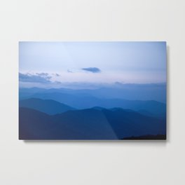 Smoky Mountain Blue Metal Print