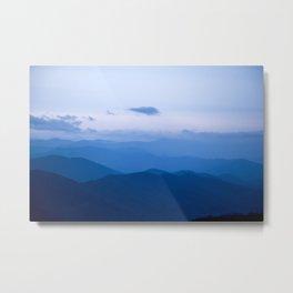 Smoky Mountain Blue Metal Print