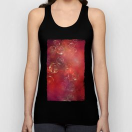Into the red space surreal bubbles Unisex Tank Top