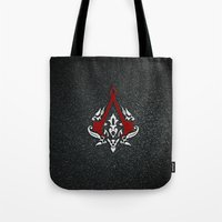 assassins creed Tote Bags featuring Creed Assassins  by neutrone