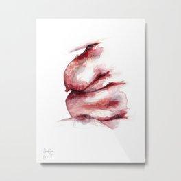 Au Natural Metal Print