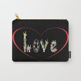 ASL Heart Full of Love Carry-All Pouch