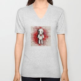 Halloween Theme [Voodoo Doll] Unisex V-Neck