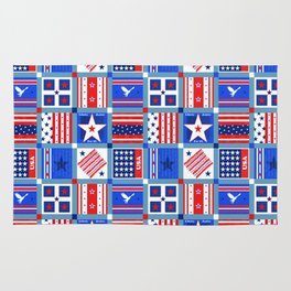 4th July Patchwork Rug