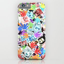 Weed Ahegao iPhone Case