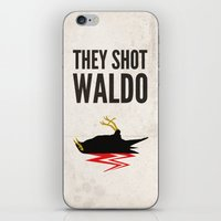 waldo iPhone & iPod Skins featuring Twin Peaks, They Shot Waldo the Myna Bird by Sauls Creative | Alternative Movie Art