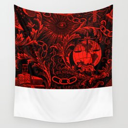 Red and Black IOOF  Woven Symbolism Tapestry Wall Tapestry