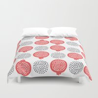 pomegranate Duvet Covers featuring Pomegranate by curious creatures