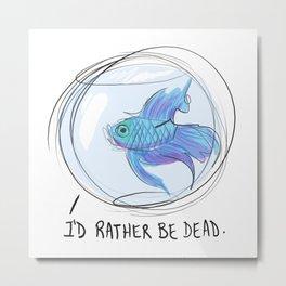 Depressed Fish Metal Print