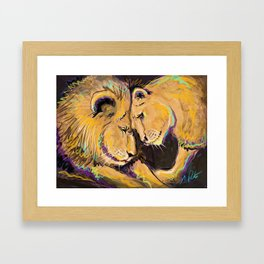 Long Lasting Lion Love Framed Art Print