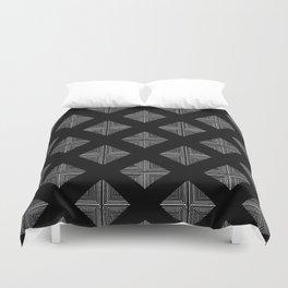 Modern Black Geometrical Pattern Design Duvet Cover