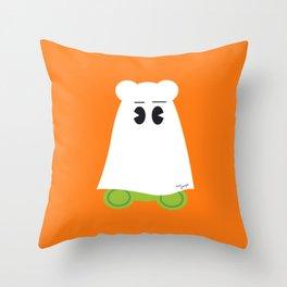Ghost Gum Bear, Ours en guimauve fantôme - Halloween party Throw Pillow