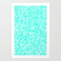 Mix of bleu-ciel & white Art Print
