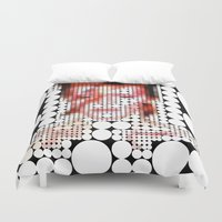 "aladdin Duvet Covers featuring David Bowie ""Aladdin Sane"" by Louis Loizou"