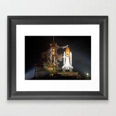 Space Shuttle Discovery is Prepared for Launch Framed Art Print