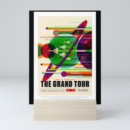 Nasa t-shirt. The Grand Tour poster. For space and science lovers. Mini Art Print