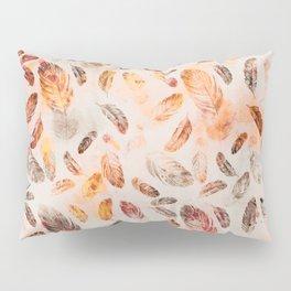 Autumn Feathers watercolor pattern Pillow Sham