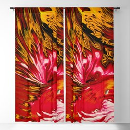 Fire Lily Blackout Curtain