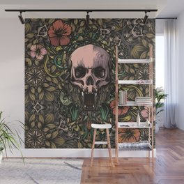 Skull in jungle Wall Mural