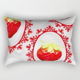 Fraise baroque Rectangular Pillow