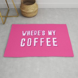 Where's My Coffee Vintage Retro Typography Rug