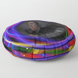 'Do Androids Dream of Electric Sheep?' Contemporary Avant-Garde Portrait Floor Pillow