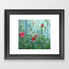 Wall Flowers Framed Art Print