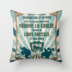 CIRQUE PRICE BLEU Throw Pillow