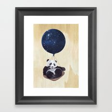 Panda in space Framed Art Print