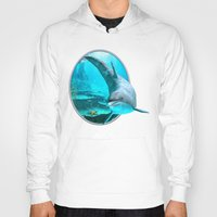 dolphin Hoodies featuring Dolphin by Simone Gatterwe
