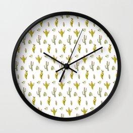 Cute and trendy watercolor cactus design Wall Clock