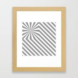 Stripes explosion - Grey Framed Art Print