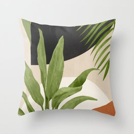 Abstract Art Tropical Leaf 11 Throw Pillow