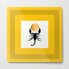 A Scorpion With The Moon In The Frame #decor #homedecor #buyart #pivivikstrm Metal Print