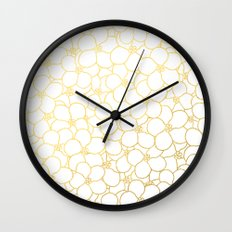 Forget Me Knot White Gold Wall Clock