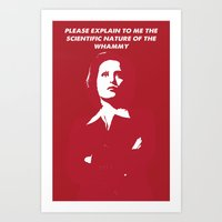 dana scully Art Prints featuring Dana Scully - Whammy by Laura