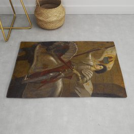 "Sir William Blake Richmond ""Joan of Arc"" Rug"