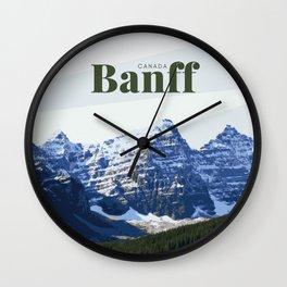 Banff Moraine Lake Canada Wall Clock