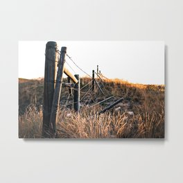 Fence in Color Metal Print