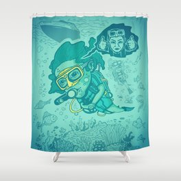 Karen the Diver Shower Curtain