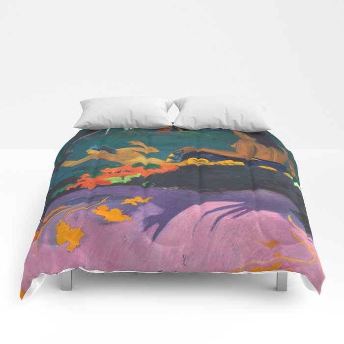 Paul Gauguin - By the Sea- Tropical Decor Comforters