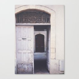 Cottage Doors in Bayeux Canvas Print