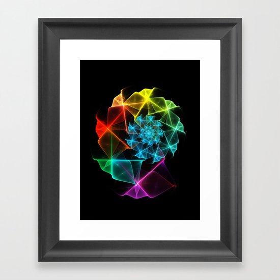 Classical Fractal Spiral 2 Framed Art Print